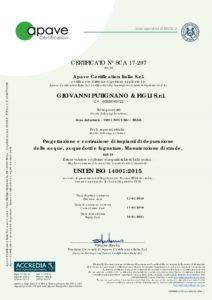 UNI EN ISO 14001_2015 IAF28